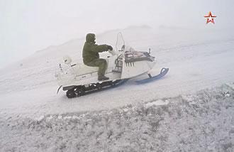 Экспедиция на Эльбрус / Подъем на высоту 4500 метров на снегоходе А-1