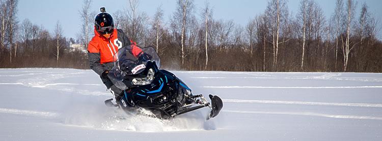 Тест-драйв снегохода RM Vector 551i финскими журналистами